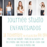 JOURNEE STUDIO ENFANTS/ADOS - SAMEDI 18 NOVEMBRE